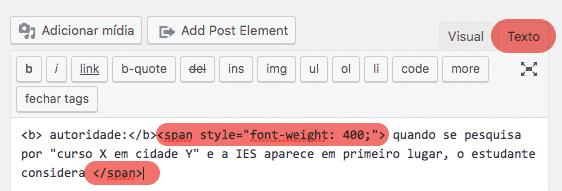 Busca por resquícios html no WordPress